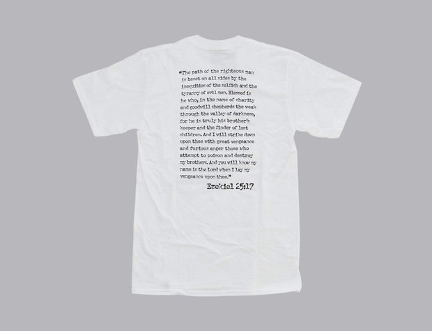 HUF X Pulp Fiction Ezekiel S/S Tee White