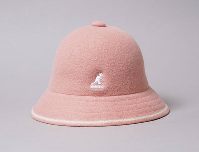 Hat Bucket Kangol Stripe Casual Dusty Rose/Off White Kangol