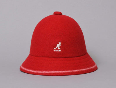 Hat Bucket Kangol Stripe Casual Red / Off White Kangol