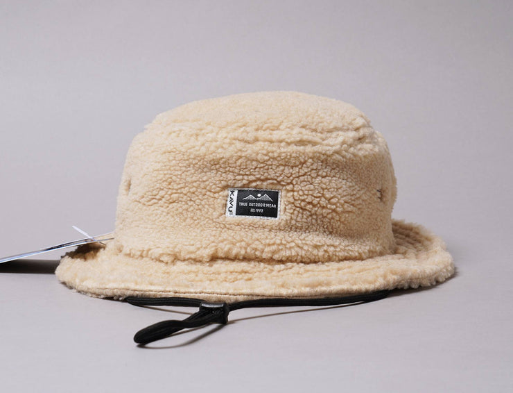 Hat Bucket Kavu Fur Ball Boonie Camel Kavu Bucket Hat / Beige