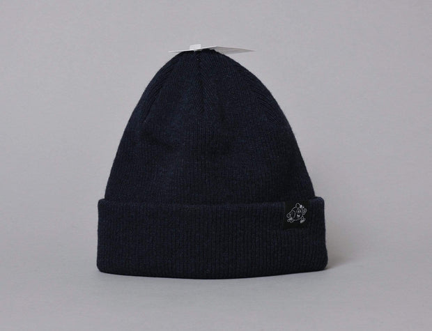 LOKK Patch Wool Beanie Navy