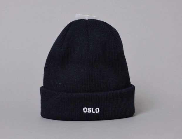 OSLO Wool Beanie Navy/White