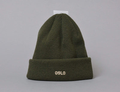 OSLO Wool Beanie Green/Wheat