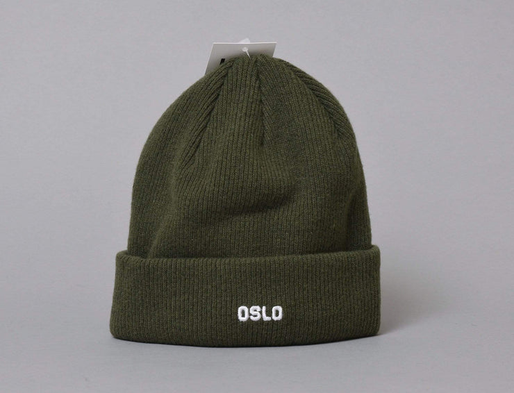 OSLO Wool Beanie Green/White