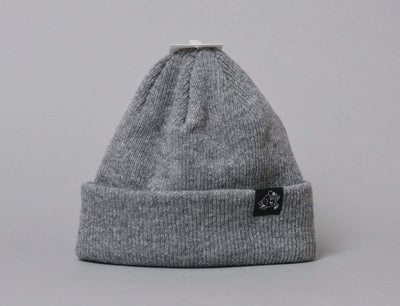 Beanie Cuff LOKK Patch Wool Beanie Heather Grey LOKK Cuff Beanie / Grey / One Size