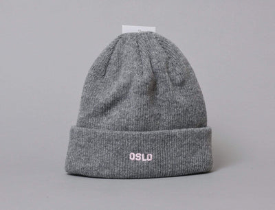 Beanie Cuff OSLO Wool Beanie Heather Grey/Pink LOKK Cuff Beanie / Grey / One Size