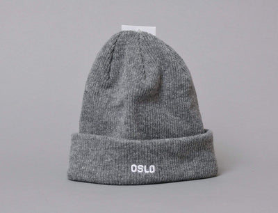 Beanie Cuff OSLO Wool Beanie Heather Grey/White LOKK Cuff Beanie / Grey / One Size