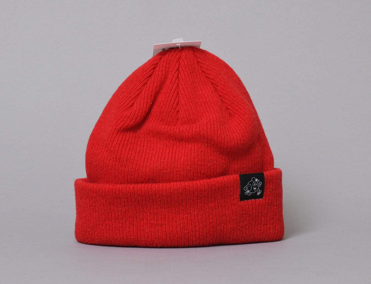 Beanie Cuff LOKK Patch Wool Beanie Red LOKK Cuff Beanie / Red / One Size