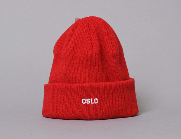 OSLO Wool Beanie Red/White