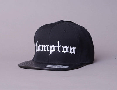 "Cap Snapback Compton Black ""Leather Visor"" LOKK Snapback Cap / Black / One Size"