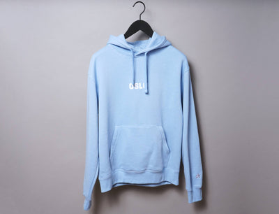 Clothing Hoodie OSLO Hoody Light Blue/White LOKK