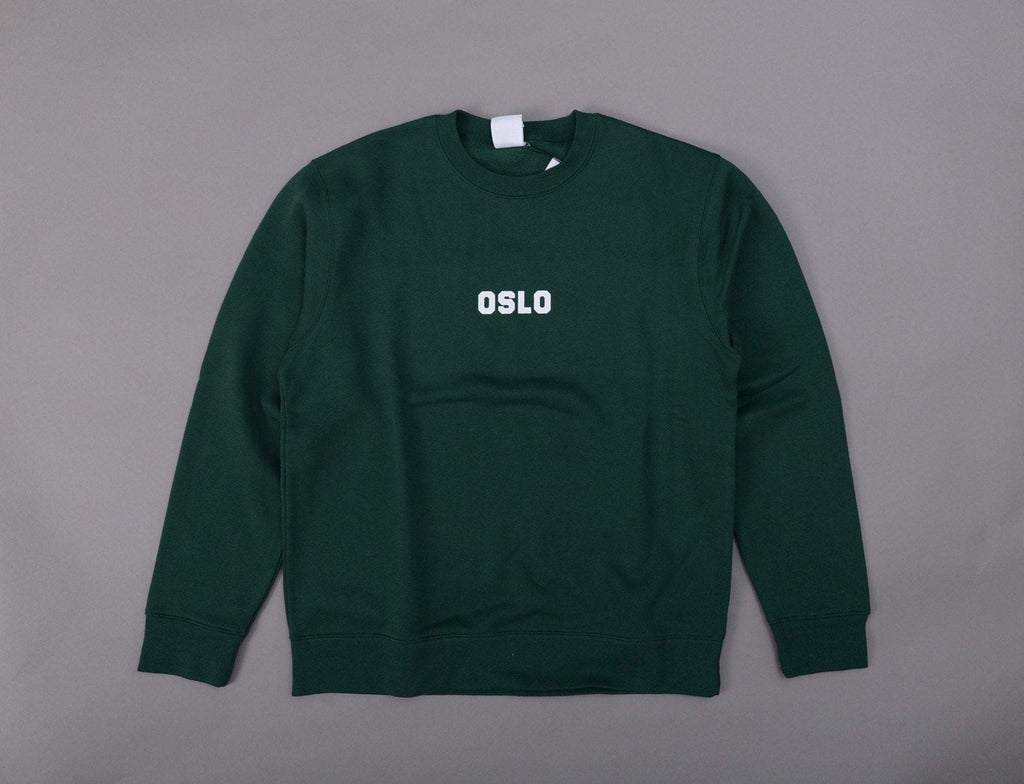 OSLO Crew Neck Sweater Green