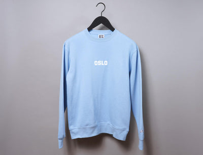 Clothing Sweater OSLO Crew Neck Sweater Light Blue/White LOKK