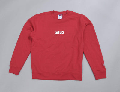 Clothing Sweater OSLO Crew Neck Sweater Red LOKK