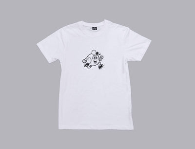 Baseball Maskot Tee White/Black