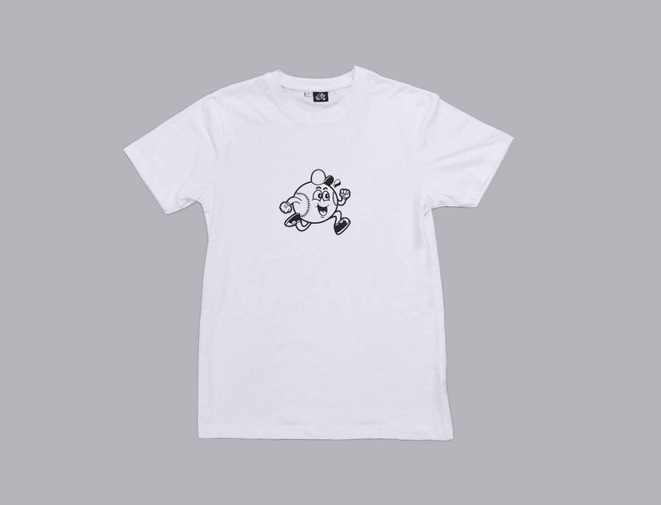 Clothing Tee Baseball Maskot Tee White/Black LOKK