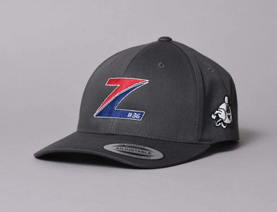 Mats Zuccarello - Curved Snapback Charcoal Grey