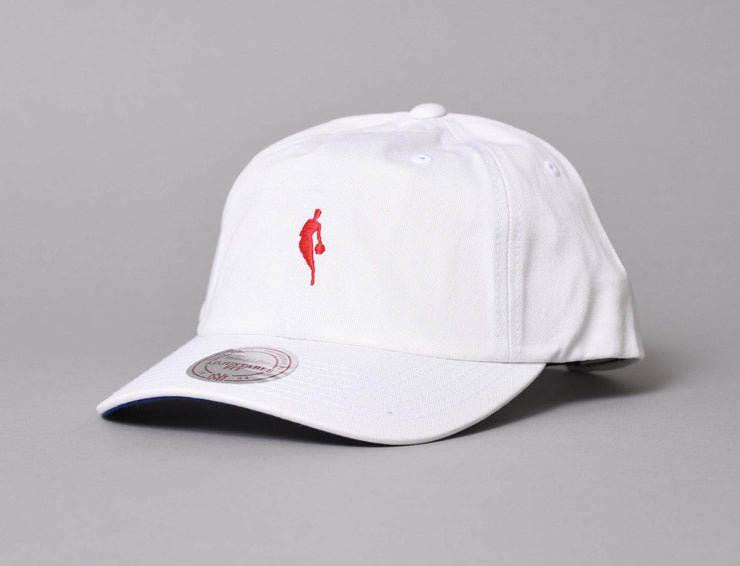 Cap Adjustable Little Dribbler Dad Hat NBA White/red Mitchell & Ness Adjustable Cap / White / One Size