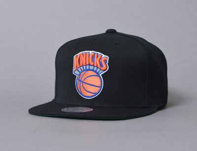 Cap Snapback Mitchell & Ness Wool Solid New York Knicks Black Mitchell & Ness Snapback Cap / Black / One Size