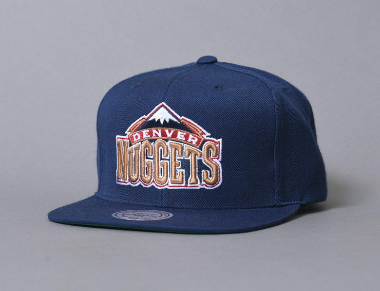 Cap Snapback Mitchell & Ness Wool Solid Denver Nuggets Navy Mitchell & Ness Snapback Cap / Blue / One Size