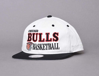 Cap Snapback CAP CHICAGO BULLS DUNK OFF WHITE Mitchell & Ness Snapback Cap / White / One Size