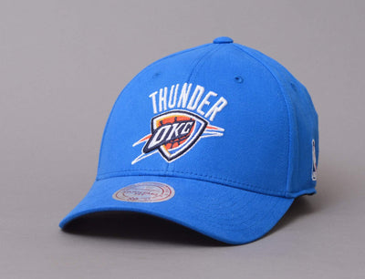 Cap Snapback Mitchell & Ness Low Pro Snapback Oklahoma City Thunders Blue Mitchell & Ness Snapback Cap / Team / One Size