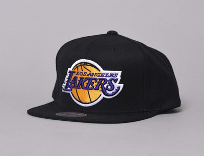 Cap Snapback WOOL SOLID SNAPBACK LA LAKERS Mitchell & Ness Snapback Cap / Black / One Size