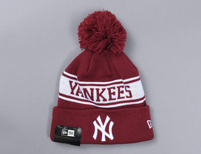 Beanie Bobble Seasonal Jake NY Yankees New Era Bobble Beanie / Red / One Size