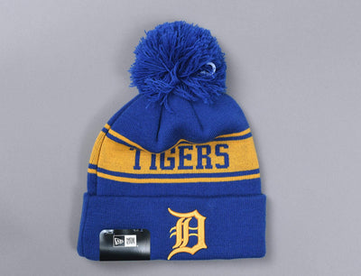 Beanie Bobble Seasonal Jake Detroit Tigers New Era Bobble Beanie / Blue / One Size