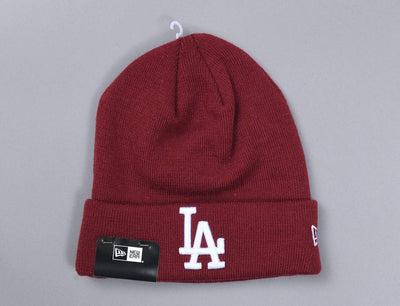 Beanie Cuff League Essential Cuff Knit LA Dodgers Cardinal/White New Era Cuff Beanie / Red / One Size