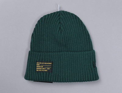 Beanie Cuff Watch Man Knit Dark Green New Era Cuff Beanie / Green / One Size