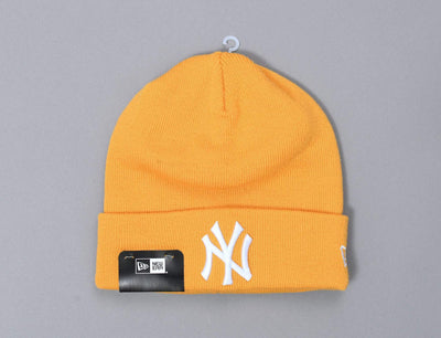 Beanie Cuff Essential Cuff Knit Ny Yankees Gold/White New Era Cuff Beanie / Yellow / One Size