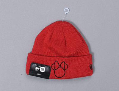 Beanie Kids Disney Silhouette Infant Knit Minnie Mouse New Era Infant Beanie / Red / Infant