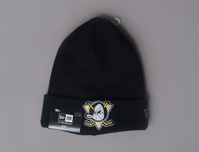 Beanie Kids Kids Essential Cuff Knit Anaheim Ducks Black New Era Kids Beanie / Black / One Size