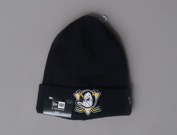 Kids Essential Cuff Knit Anaheim Ducks Black