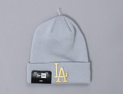 Beanie Kids Golden Knit Kids LA Dodgers New Era Kids Beanie / Grey / Youth
