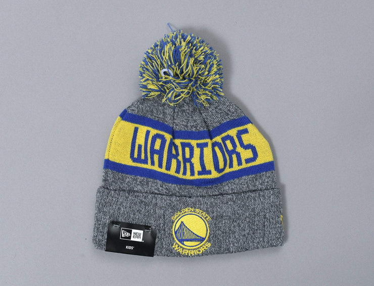 Beanie Kids Kids NBA Marle Knit Golden State Warriors New Era Kids Beanie / Grey / Youth