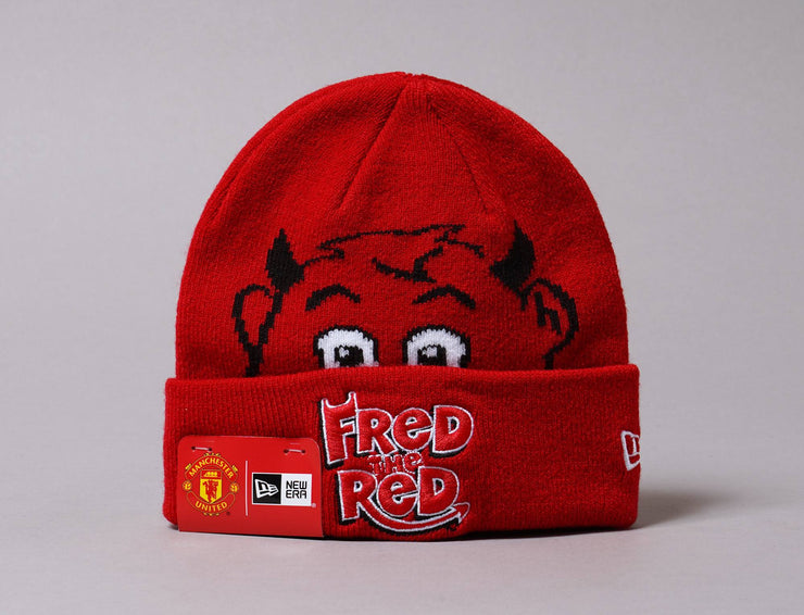 Beanie Kids Kids Beanie Fred The Red Manchester United New Era Cuff Knit / Red / Infant