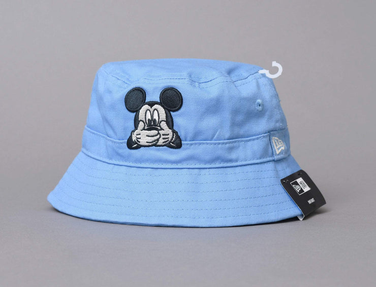 Beanie Kids Disney Bucket Hat til Gutt, Blå Mickey Mouse Solhatt New Era Infant Bucket Hat / Blue / Infant