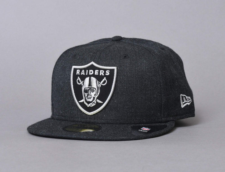 Cap Fitted 59FIFTY NFL Cap Heather Oakland Raiders Heather Black New Era