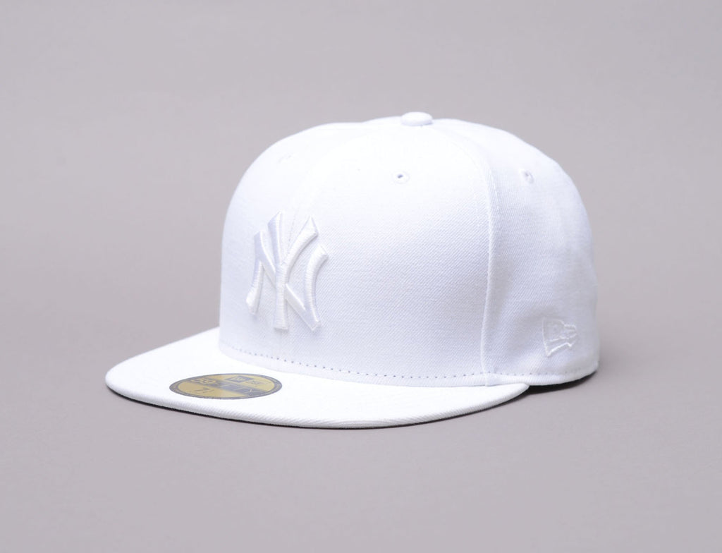 MLB 59fifty Optic White on White NY Yankees
