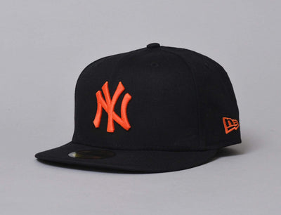 Cap Fitted 59FIFTY MLB Utility NY Yankees Black/Orange New Era