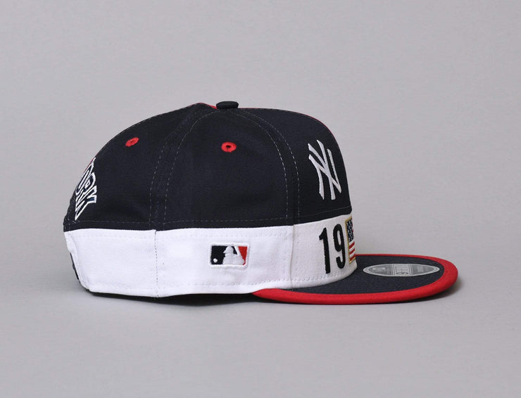 Cap Snapback 9FIFTY Original Fit Colour Block League NY Yankees Scarlet/Navy/White New Era