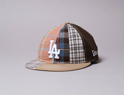 Cap Snapback 9FIFTY Retro Crown Korea Collection Check Block LA Dodgers Brown New Era