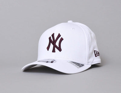 Cap Snapback 9FIFTY Stretch-Snap League Essential NY Yankees White/Maroon New Era