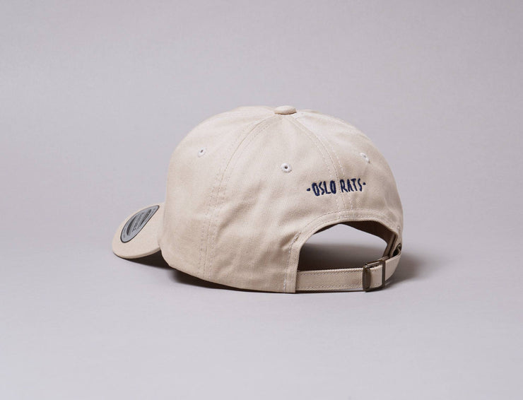 Cap Adjustable Oslo Rats Dad Hat Stone/Navy Oslo Rats Adjustable Cap / Beige / One Size
