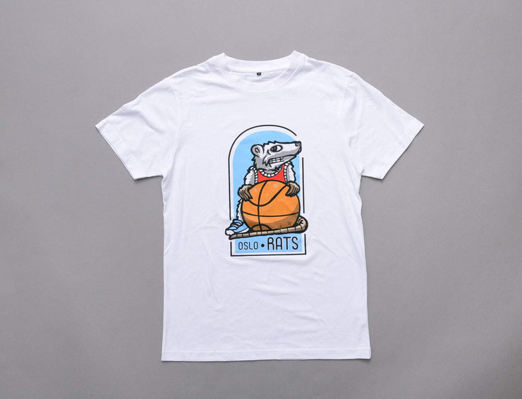 Oslo Rats - Basketball Tee - White
