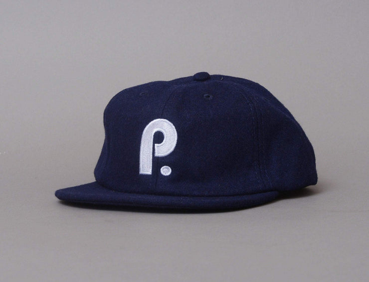 Cap Adjustable Paterson Brushed Wool Club Hat, Navy Paterson League Adjustable Cap Cap / Blue / One Size