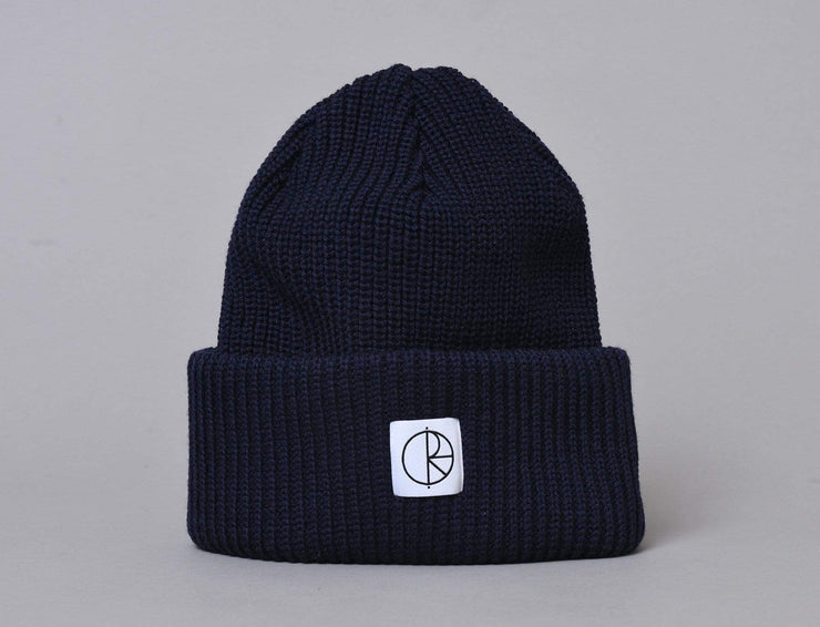 Polar Double Fold Merino Beanie - Rich Navy