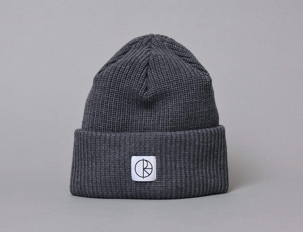 Polar Double Fold Merino Wool Beanie Grey